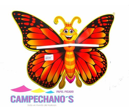 papel picado figura mariposa monarca