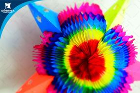 Papel Picado Piñata Estrella Mediana Multicolor