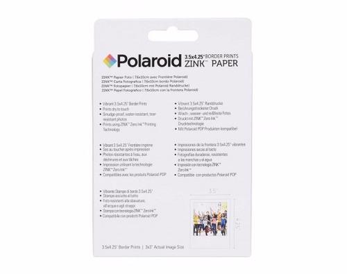 papel polaroid zink pop (40 hojas)
