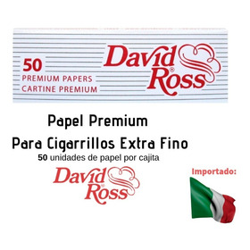 Papel Premium Para Cigarrillos Extra Fino - David Ross 50