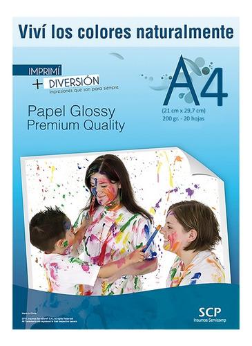 papel scp foto a4 simple faz 120gr x 200 hojas glossy