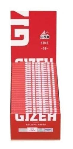 papel sedas gizeh fine red rojo 8 armar cigarrillos librillo