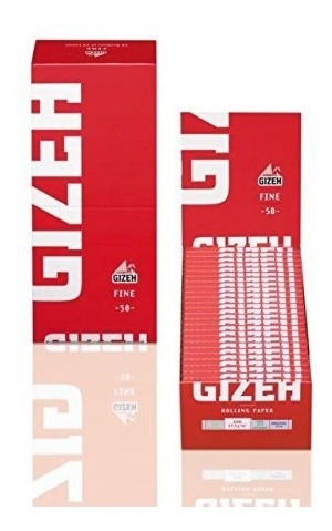 papel sedas gizeh fine red rojo 8 pack x500 cigarrillos