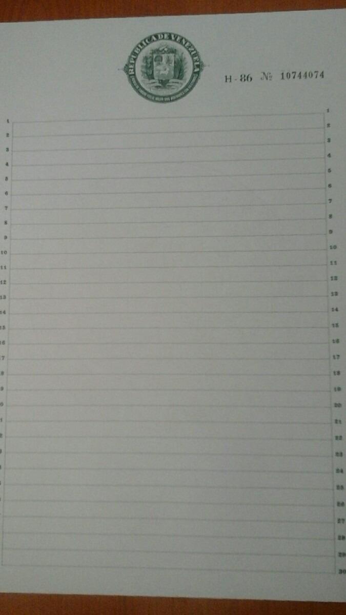 papel sellado de colecci243n en perfecto estado bs 10000