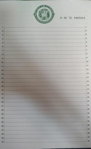papel sellado republica de venezuela h-80