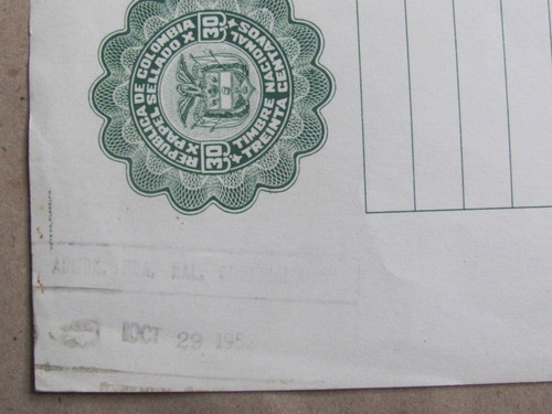 papel sellado, timbre nacional año oct 1952  filatelia
