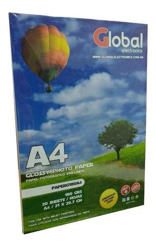 papel sticker autoadhesivo transparente impresora a4 x 20