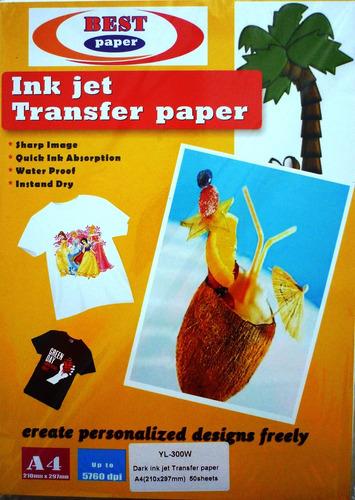 papel sublimación 8,5x14 100 hojas suministros fauca