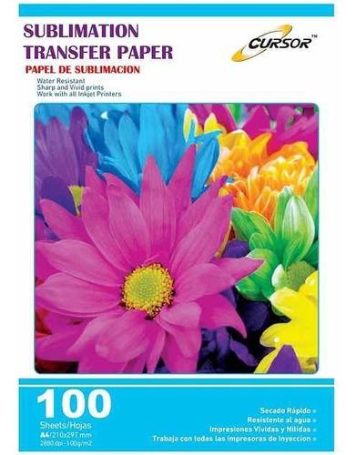 papel sublimación premium a4/100 hojas. envio grátis x 5 und