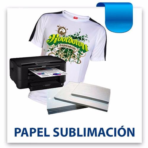 papel sublimación x 100 hojas a4