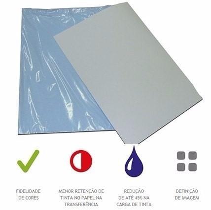 papel sublimação 1000fls a4 fundo azul havir frete grátis