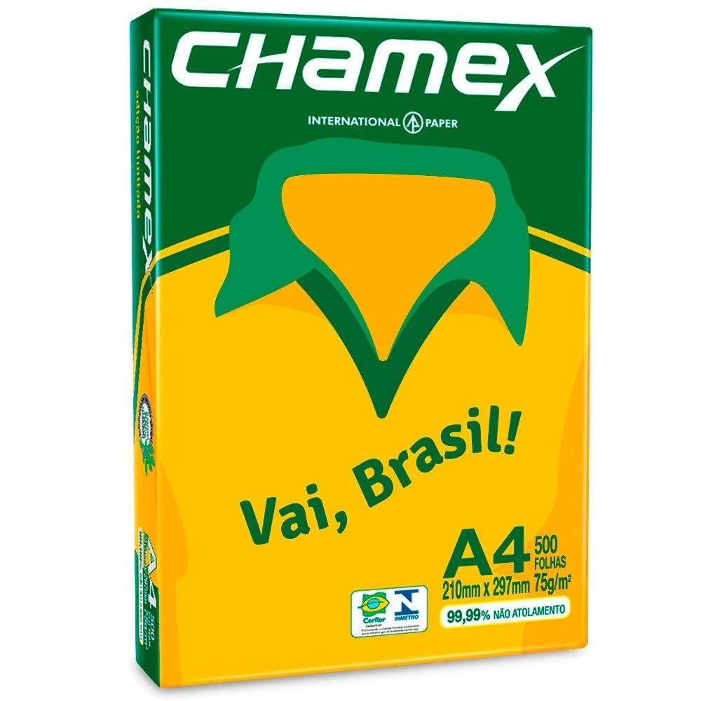 Papel Sulfite 75g 210x297 A4 Chamex Vai Brasil 500 Folhas R 1700
