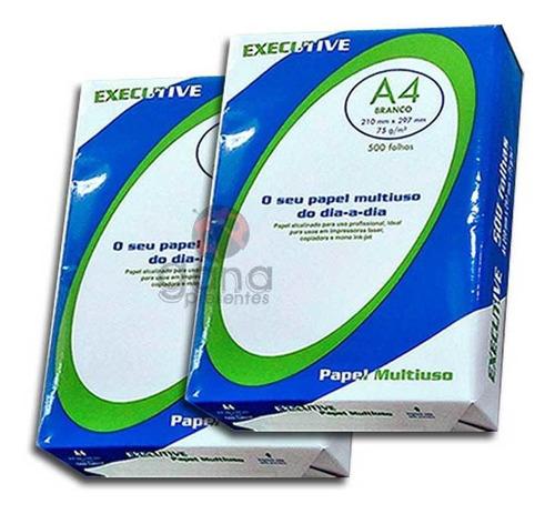 papel sulfite 75g executive a4 multiuso pacote 500 folhas