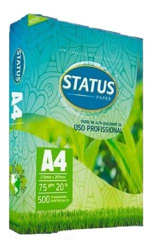 papel sulfite a4 75grs pacote c/ 500 folhas status