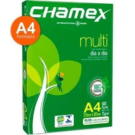 papel sulfite a4 chamex multiuso - 2500 folhas liquidação