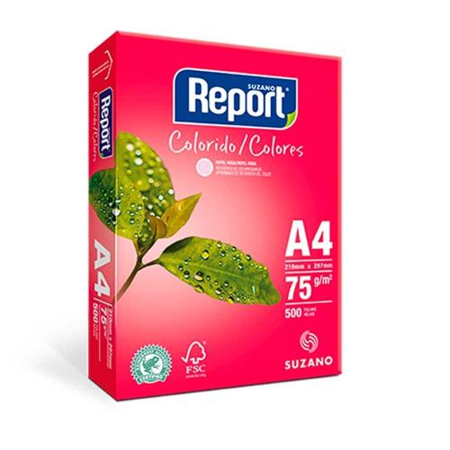 papel sulfite a4 color suzano report®  75gr, 210x297