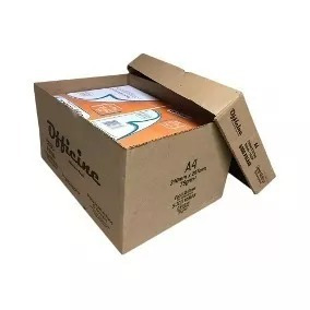 papel sulfite a4 officine  500fls 75gr - caixa c/ 7 pacotes