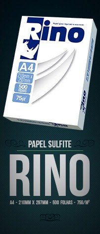 papel sulfite a4 rino- 210x297mm,75gr. 500 folhas