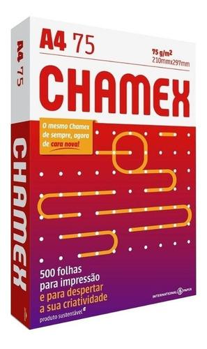 papel sulfite chamex office 75g a4 - 4 resmas c/2500 folhas