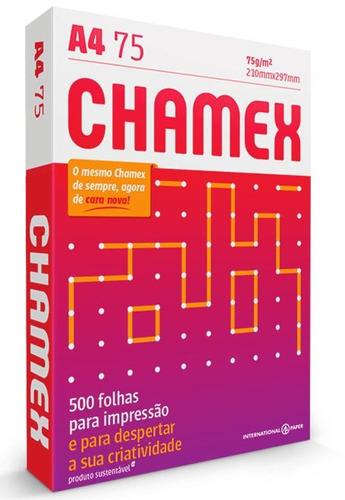 papel sulfite chamex office - a4 - pacote com 500 folhas