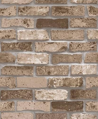 Papel tapiz 31115 lavable textura madera ladrillos moderno - Papel pared ladrillo ...