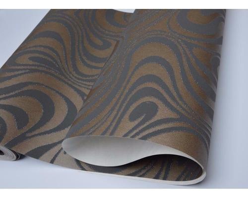 papel tapiz 3d relieve flocado rayas sala comedor chocolate