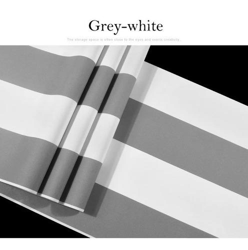 papel tapiz a rayas gris y blanco dormitorio sala