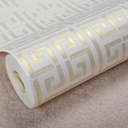 papel tapiz con patrón geometrico texturizado pared