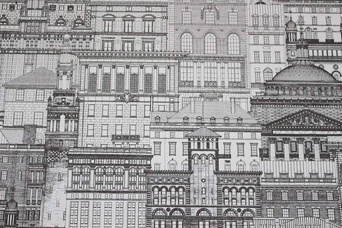 papel tapiz de la ciudad negro / blanco para la ...