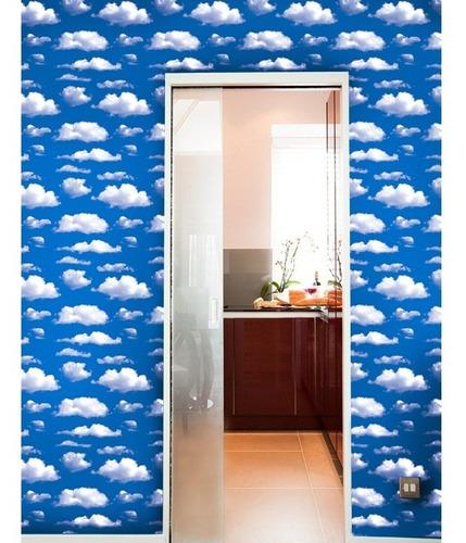 papel tapiz de nubes en el cielo azul autoadherible pared