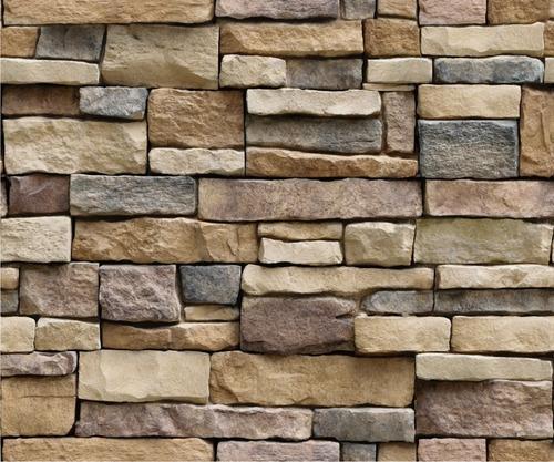 papel tapiz de piedra laja ladrillo autoadherible pared