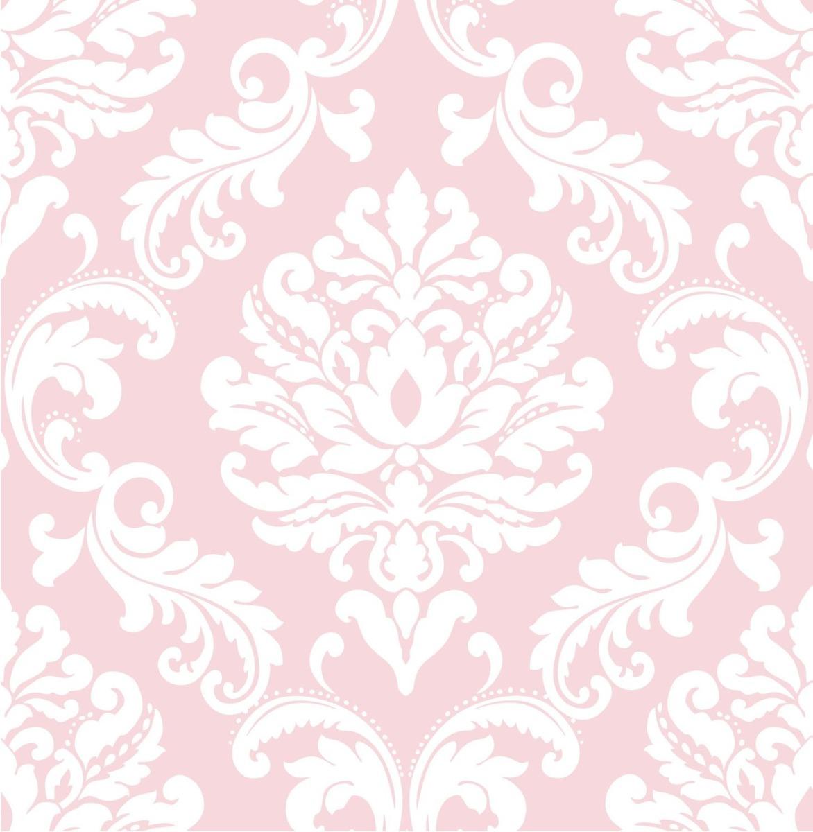 Papel tapiz dise o ariel rosa y blanco blakhelmet nsp - Papel pared blanco ...