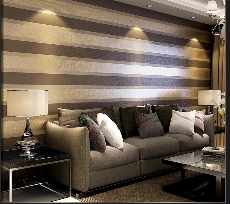 Papel tapiz doble raya cafe sala comedor for Patron de papel tapiz para sala comedor