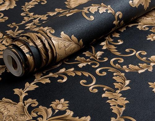 papel tapiz estilo damasco europeo con textura pared