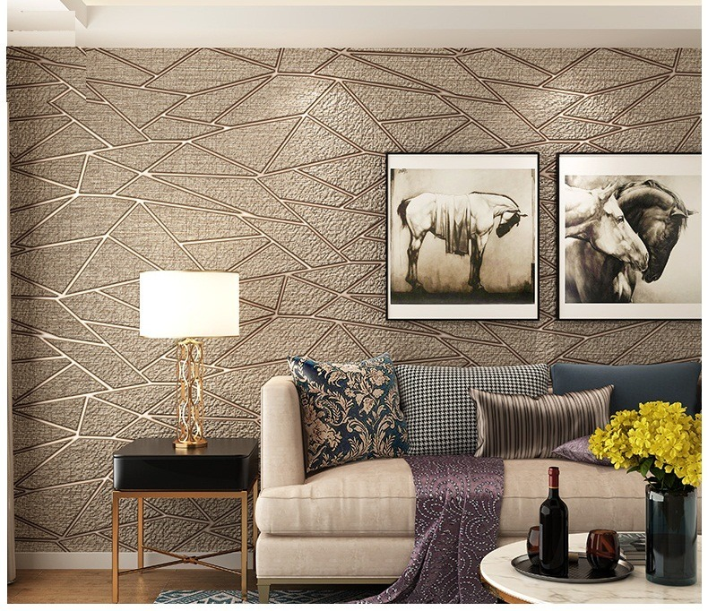 Papel tapiz flocado geometria cafe sala comedor 1 149 - Tapices para sillas de comedor ...