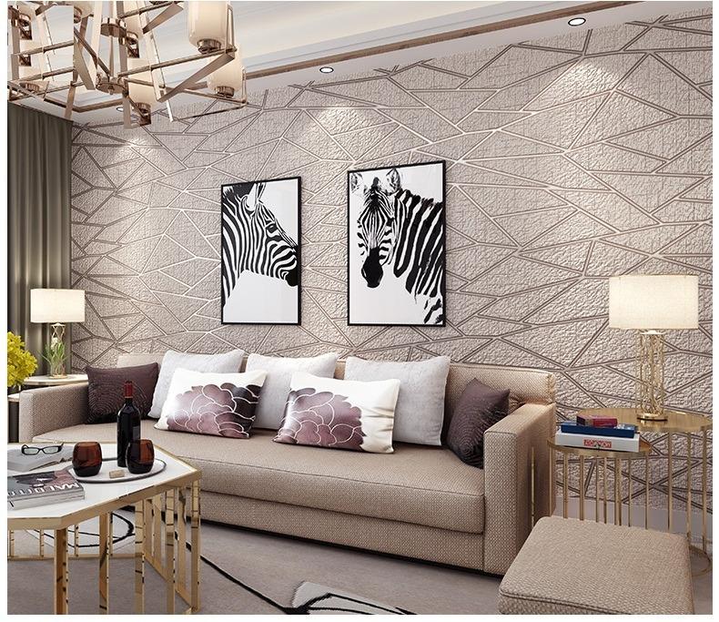 Papel tapiz flocado geometria crema claro sala comedor for Patron de papel tapiz para sala comedor