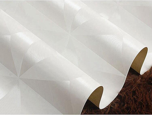 papel tapiz geometríco triangulos blanco pared o techo