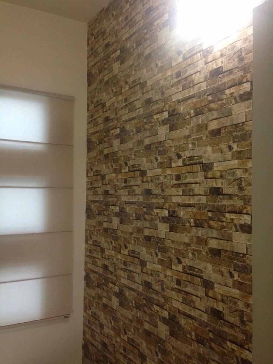 Papel tapiz imitacion ladrillo 1 en mercado libre for Papel decorativo para paredes baratos