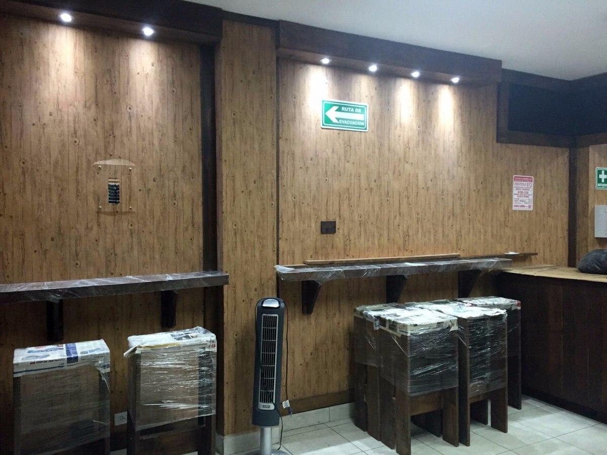 Papel tapiz imitaci n madera 1 en mercado libre for Paredes imitacion madera