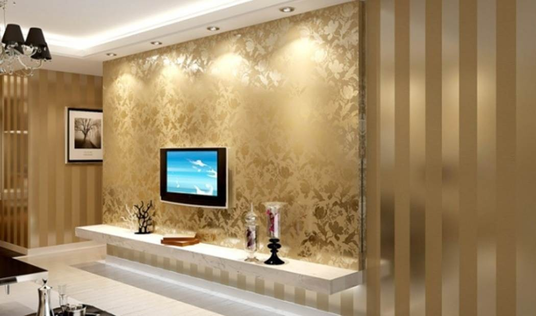 gold wallpaper living room papel tapiz importado de calidad modelo royal madrid 12864