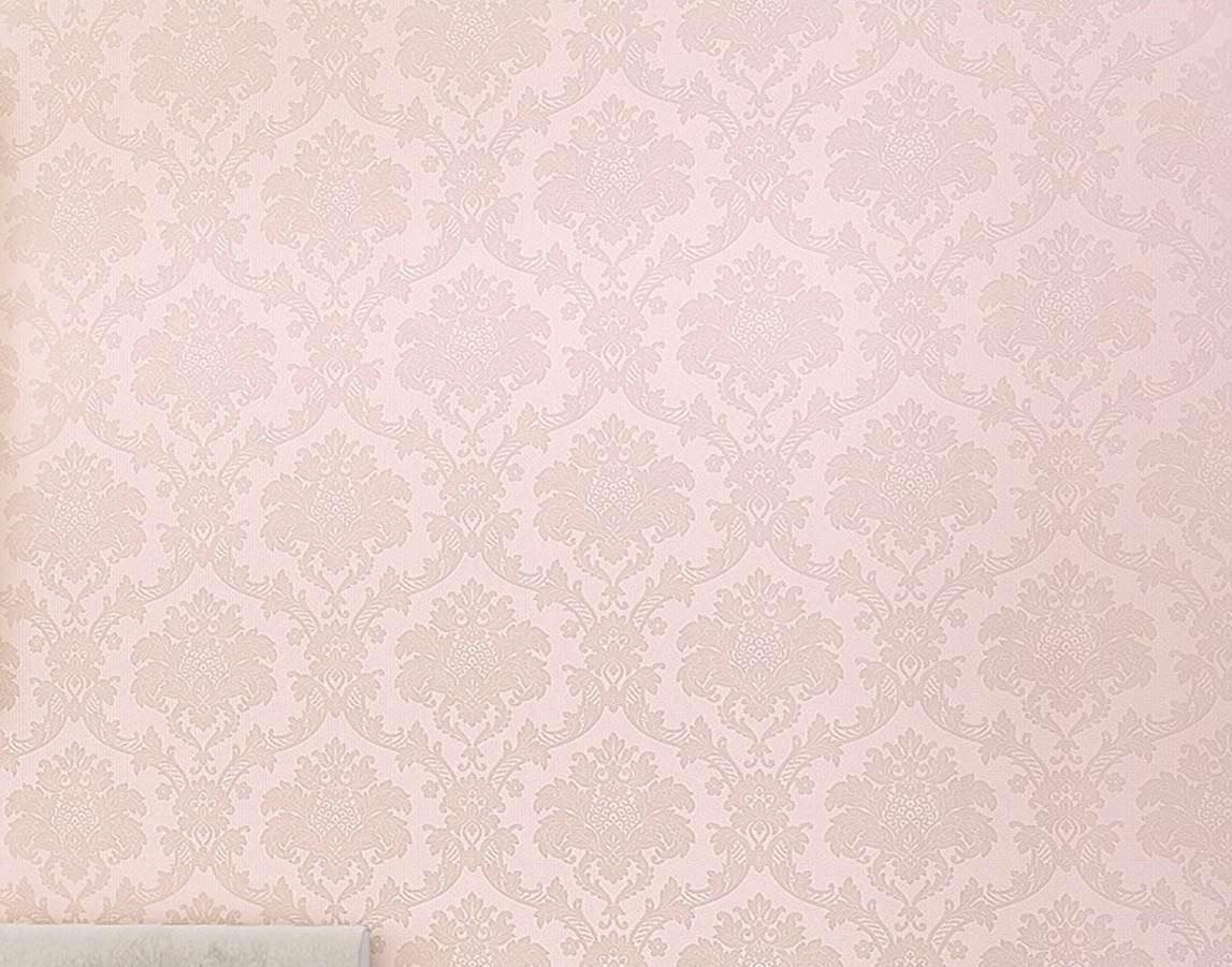 Papel tapiz importado de pvc lavable modelo damasco for Papel de pared plata