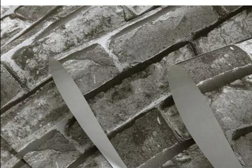 papel tapiz ladrillo a cuadros gris p empaque