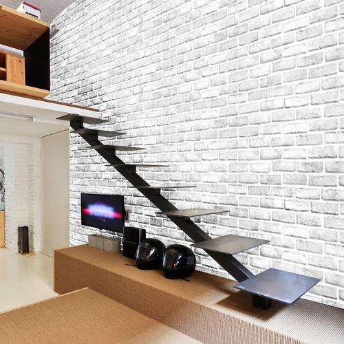 papel tapiz ladrillos blancos autoadherible pared
