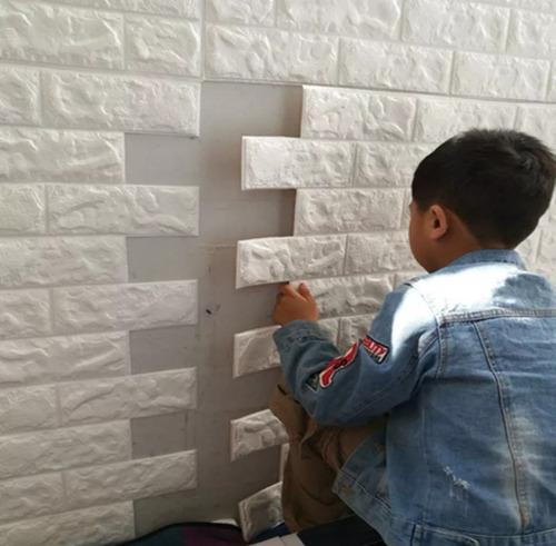 papel tapiz lavable textura ladrillos 3d con relieve para pared sala habitación pasillo decoración hogar