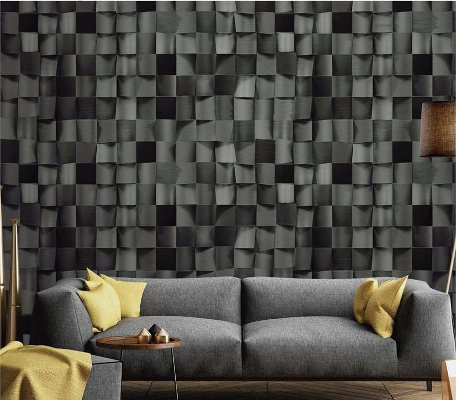 papel tapiz moderno metales 3d cubre 15mts cuadrados On tapiz del corredor moderno