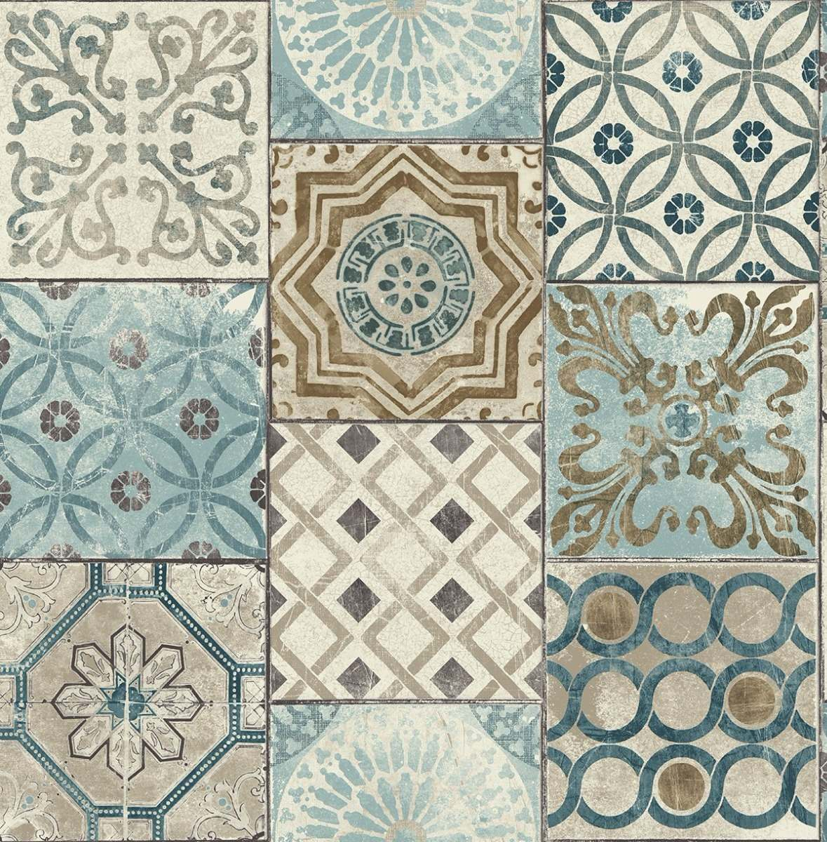Papel tapiz mosaico marroqu 20pulg x 33pies sala comedor for Mosaico marroqui