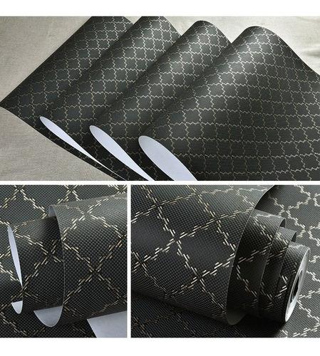 papel tapiz negro 3d cuadros negro plata oficina
