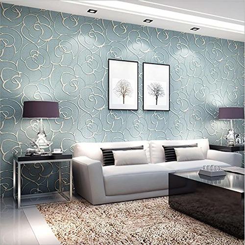 papel tapiz no tejido minimalista 3d con flor rosa, 9.90 mts
