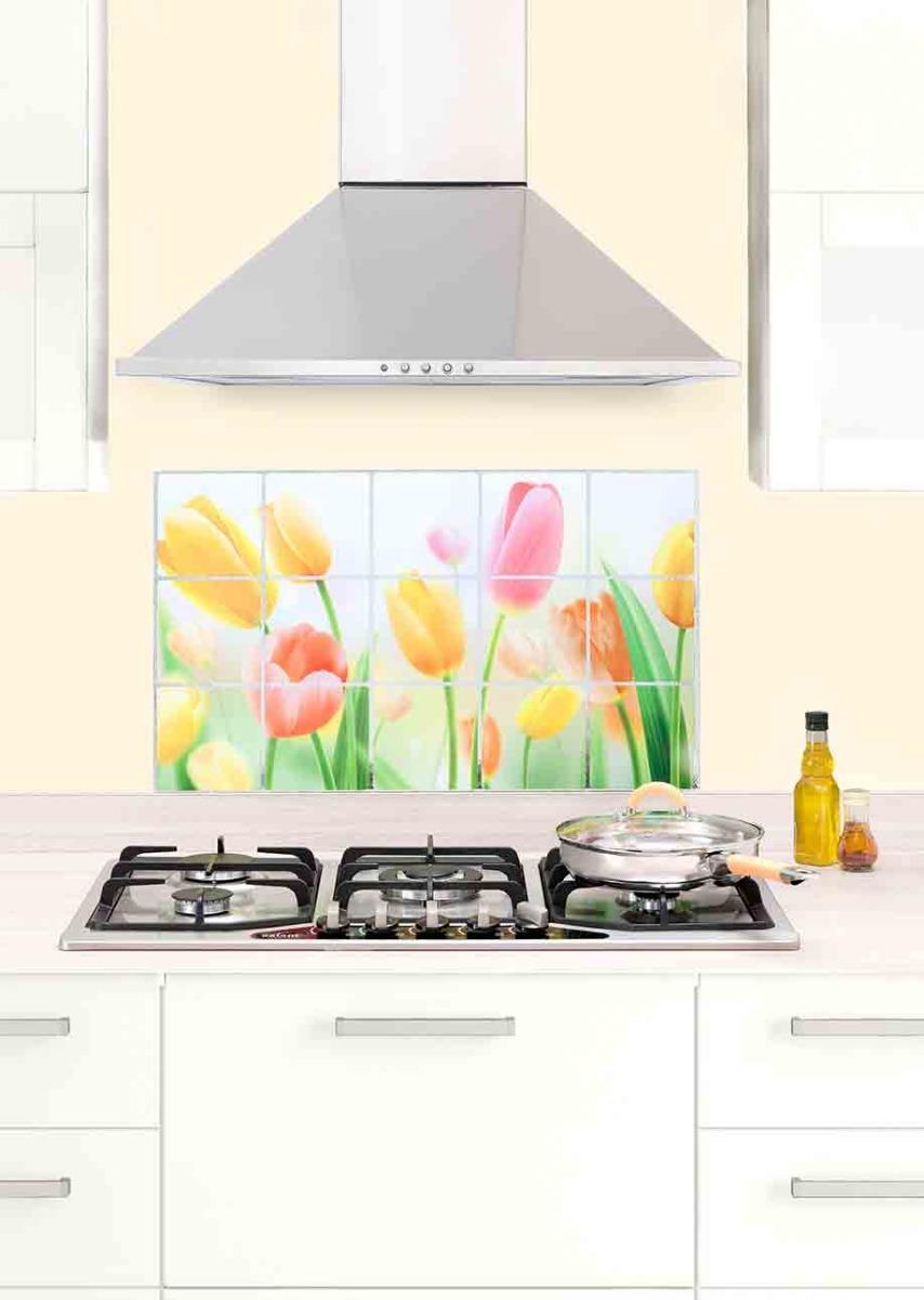 Papel tapiz pared cenefa mosaico adherible cocina 69 - Papel para paredes de cocina ...