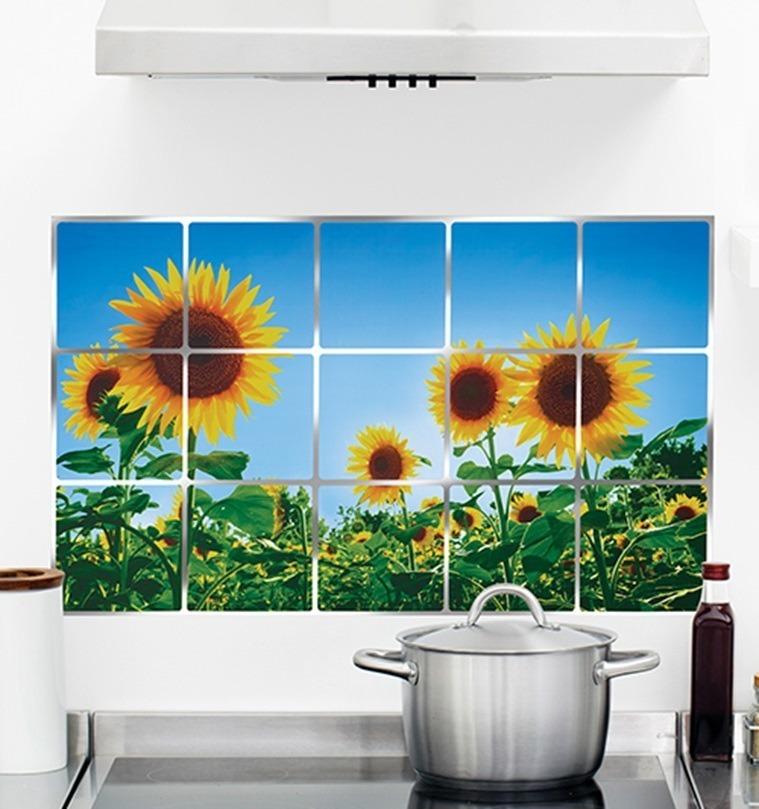 Papel Tapiz Pared Cocina Cenefa Mosaico Adherible 105 00 En